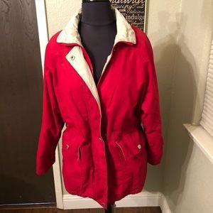 Red London Fog Jacket XS Petite